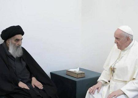 تهمت دراویش به علمای شیعه در حاشیه دیدار پاپ با آیت الله سیستانی