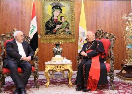 دیدار ظریف با سراسقف کلیسای کاتولیک کلدانیان + عکس